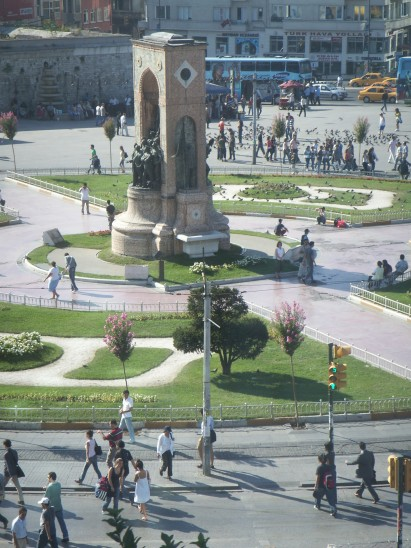 Taksim Square on a sunday morning