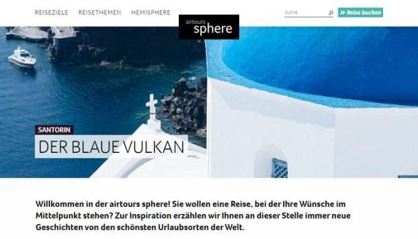 Reisemagazin airtours sphere wird digital
