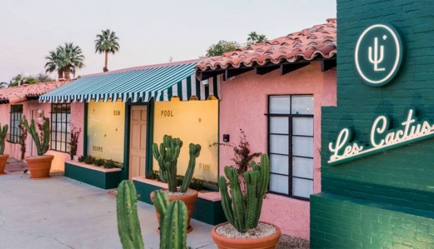 Neues Boutique-Hotel Les Cactus in Palm Springs
