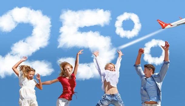 Corendon Airlines bietet Familien mit Kindern 25 Prozent Ermäßigung!