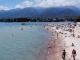 Warm water of Kyrgyzstan's Issyk-Kul lake captivates tourists